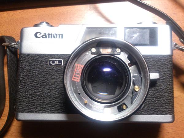 Canon Canonet QL17 со снятым передними элементами