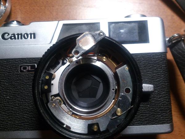 Canon Canonet QL17 со снятым средним линзоблоком