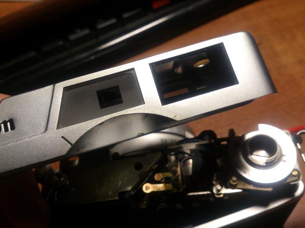 внешний видоискатель  Canon Canonet QL17 после чистки