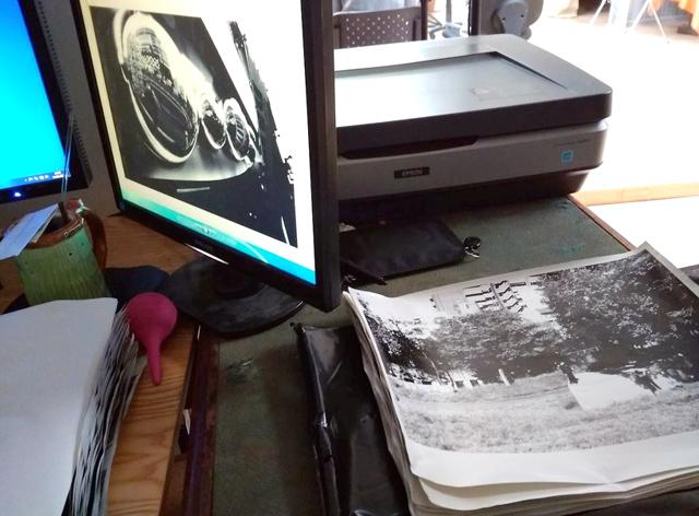 Сканирование готовых отпечатков на сканере Epson 10000XL