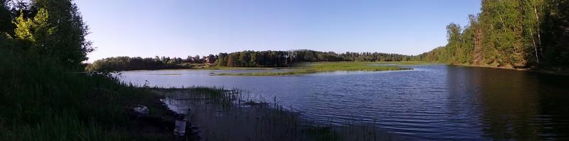 Панорама на Истринское Водохранилище со стороны Миронцево