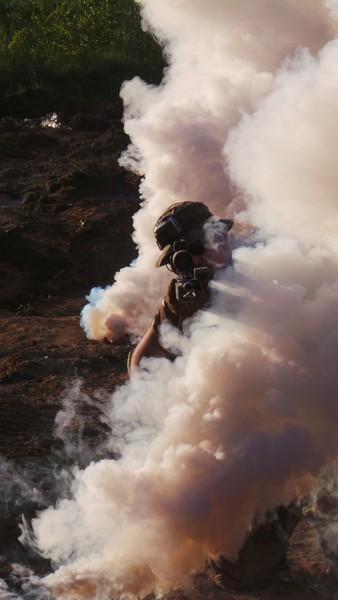 Страйкбольный снайпер в дыму