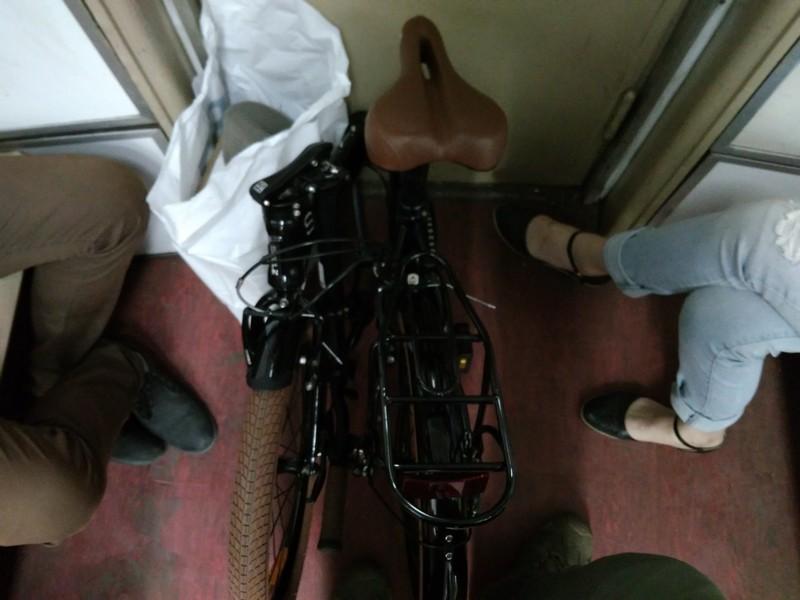 Складной велосипед в московском метро