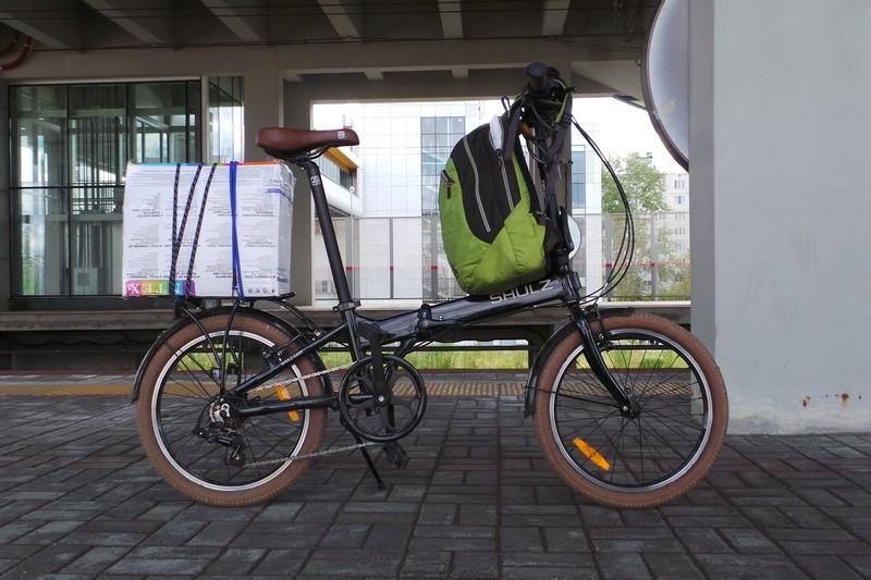 Складной велосипед - вещевоз