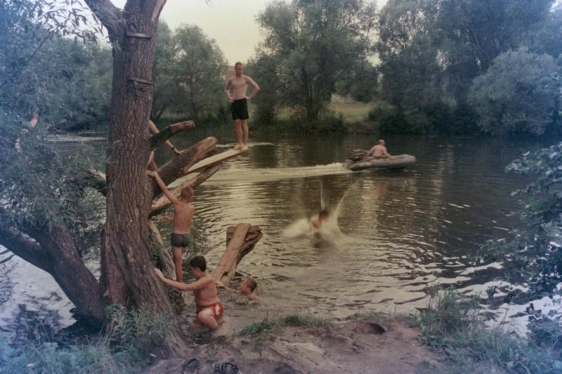 Прыжки с дерева в реку Коломенка