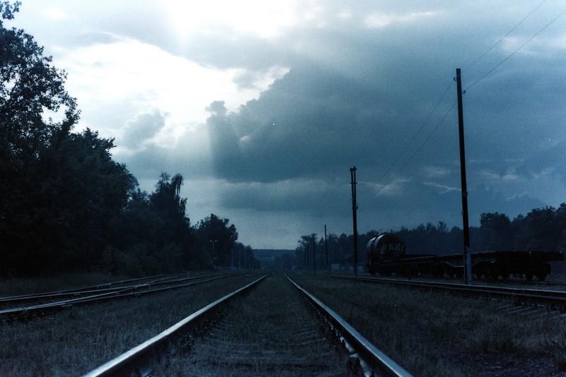 Вид на пути со станции Озеры