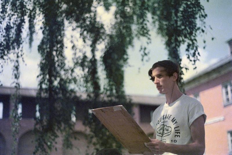 Молодые художники на практике в Коломенском Кремле