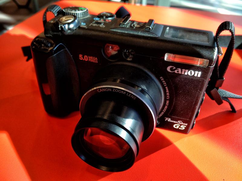 Canon PowerShot G5 2003 года в 2018 году