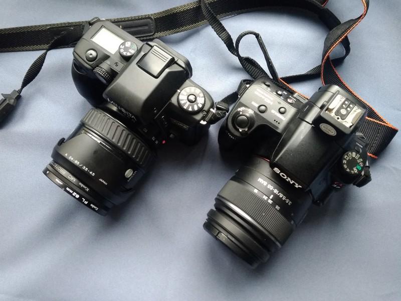 Сравнение размеров Sony SLT-A37 и Minolta A-70