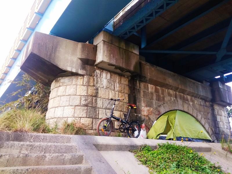 Ночевка под мостом