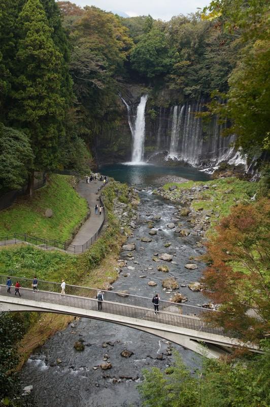 Водопад Шираито, вид сверху