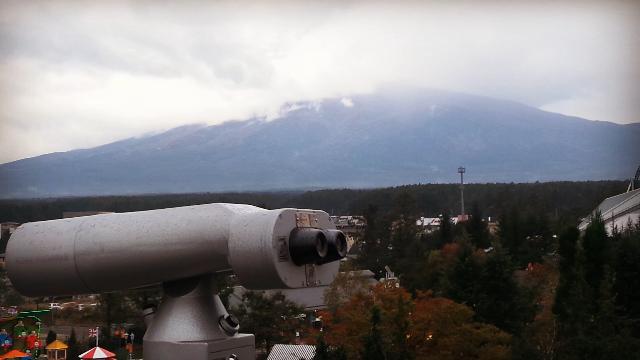 Вид на гору Фудзи со смотровой площадки парка FujiQ Highland