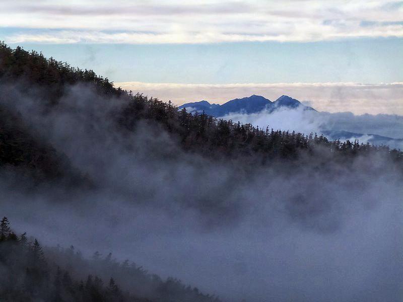 Вид на долину Фудзи с высоты 2450 метров