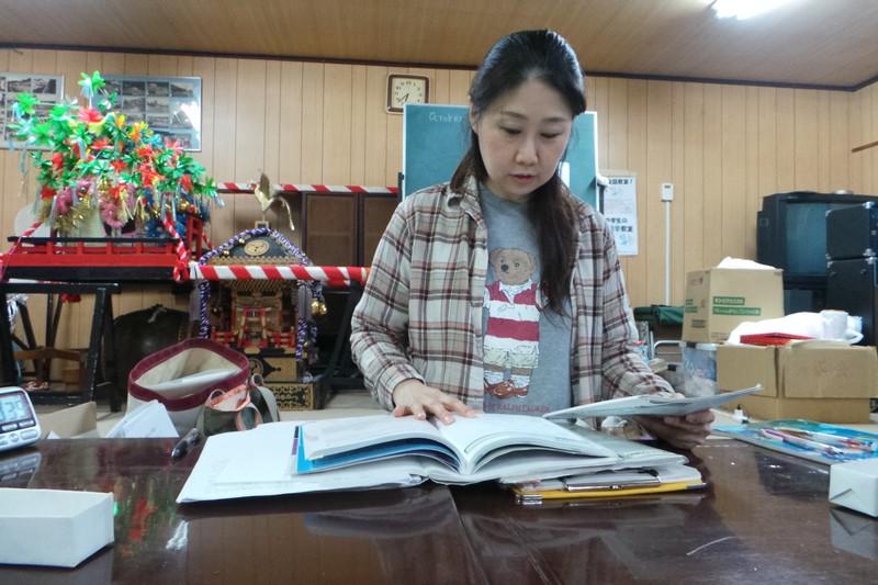 Учитель английского языка Митико во время урока