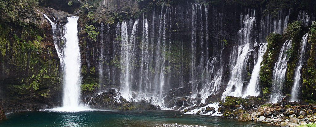 Водопад Шираито, Сидзуока (Shiraito waterfall, Shizuoka prefecture)