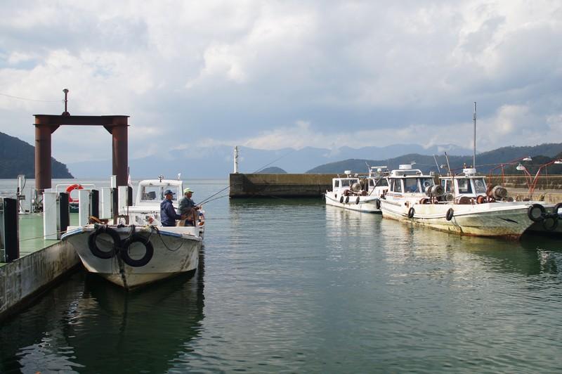 Причал парома идущего на остров Окишима