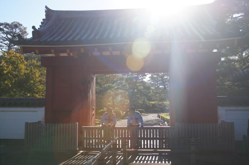 Главные ворота храма Бёдо-ин во время открытия