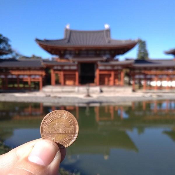 Павильон Феникс на монетке 10 йен