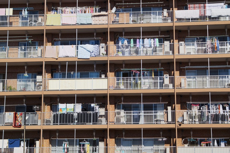 панельная многоэтажка района Аракава