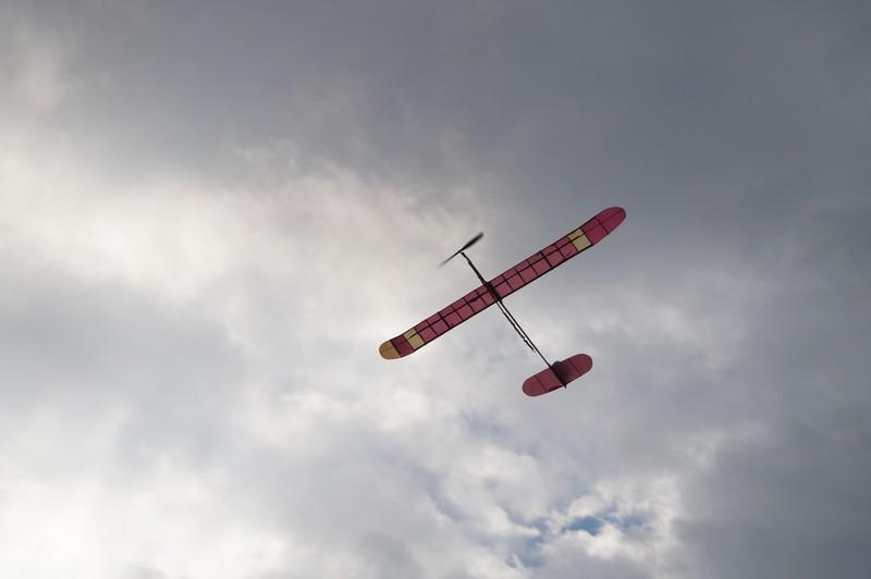 Самодельный планер в воздухе