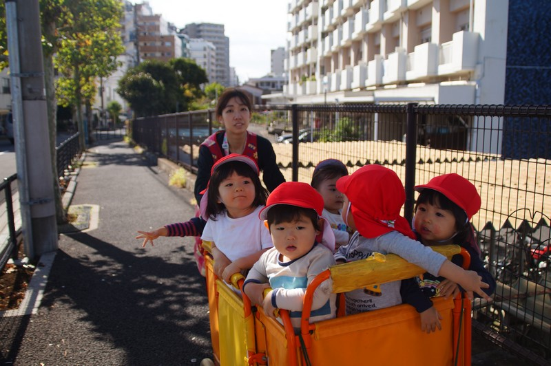 Дети из местного детского сада выехали на прогулку