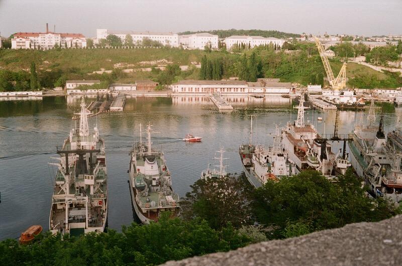 Вид на Севастополь с Южной части города.