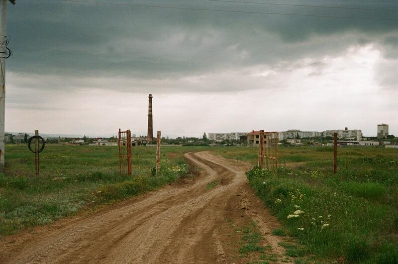Дорога на Феодосию близ побережья.