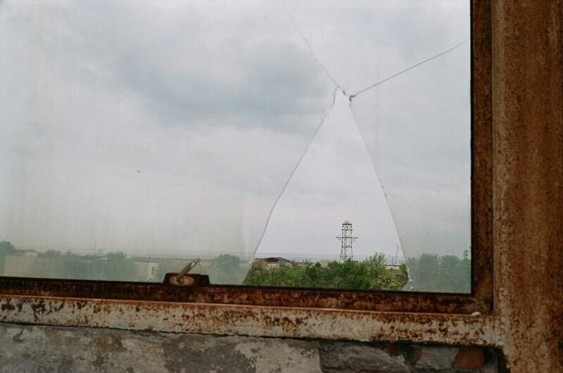 Вид на военные объекты базы в Феодосии