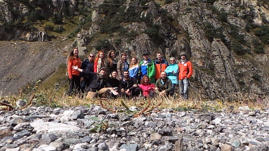 Группа Блогеров во время визита в Осетию