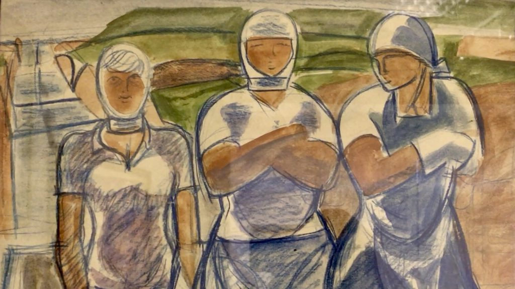 Фрагмент картины 30х годов увиденной в Тверском выставочном центре
