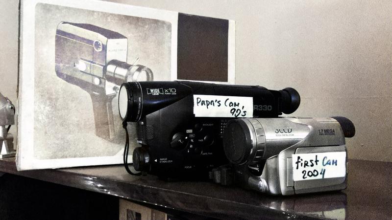 3 поколения видеокамер - деда, отца и моя первая